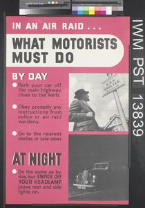 In an Air Raid...What Motorists Must Do