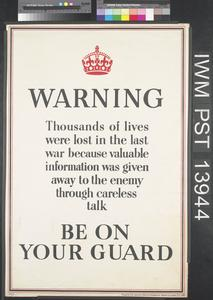 Warning - Be on Your Guard