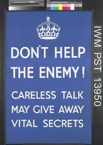 Don't Help the Enemy!
