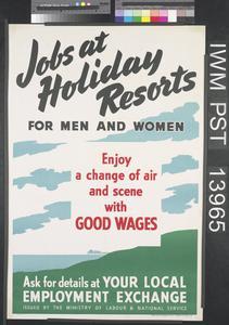 Jobs at Holiday Resorts