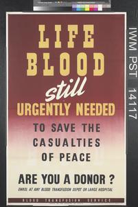 Life Blood Still Urgently Needed