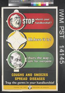 Stop - Where's Your Handkerchief? - Coughs and Sneezes Spread Diseases