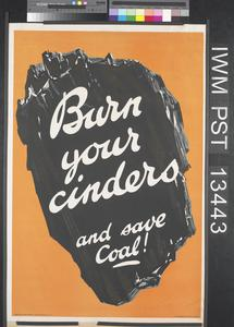 Burn Your Cinders and Save Coal!