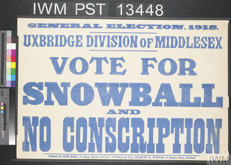 Vote for Snowball and No Conscription