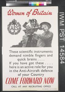Women of Britain - ATS - Come Forward Now