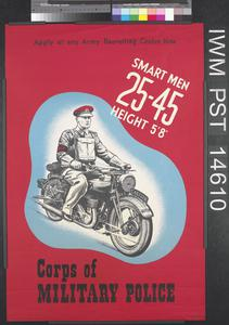 Corps of Military Police - Smart Men Twenty-five - Forty-five