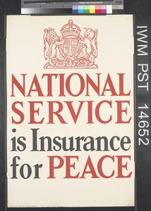 National Service is Insurance for Peace