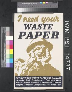 I Need Your Waste Paper