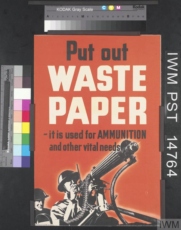 Put out waste paper art iwm pst 14764 for Art from waste paper