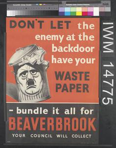 Don't Let the Enemy at the Backdoor Have Your Waste Paper