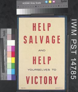 Help Salvage and Help Yourselves to Victory
