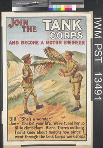 Join the Tank Corps and Become a Motor Engineer