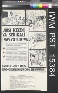 Jinsi Kodi ya Serikali Inavyotumiwa [How Government Tax is Used]