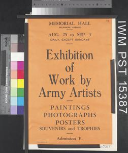 Exhibition of Work by Army Artists