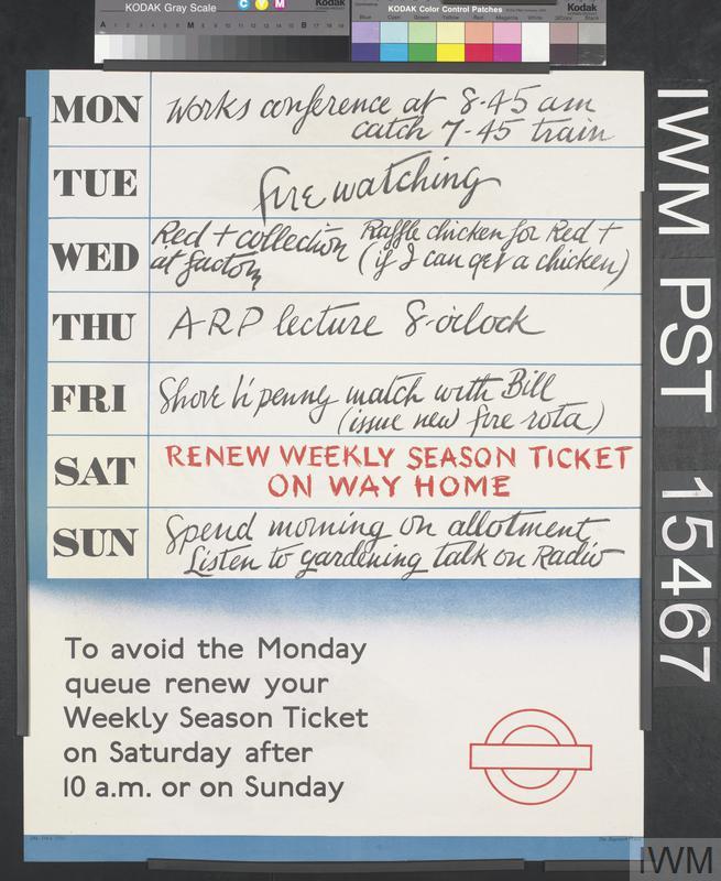 Renew Weekly Season Ticket on Way Home