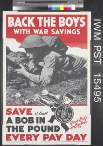 Back the Boys with War Savings