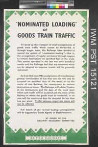 Nominated Loading of Goods Train Traffic