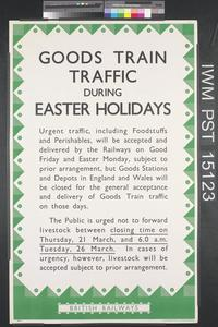 Goods Train Traffic During Easter Holidays
