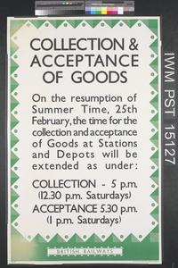 Collection and Acceptance of Goods