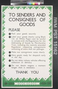 To Senders and Consignees of Goods