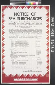 Notice of Sea Surcharges