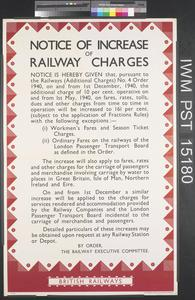 Notice of Increase of Railway Charges