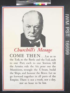 Churchill's Message