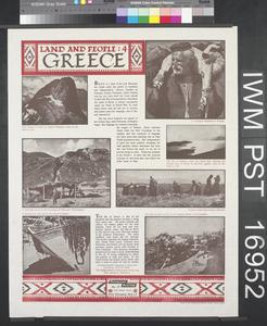 Land and People: Four - Greece