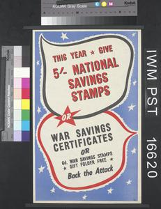 This Year Give Five Shilling National Savings Stamps