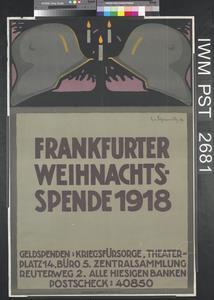 Frankfurter Weihnachtsspende 1918 [Frankfurt Christmas Collection 1918]