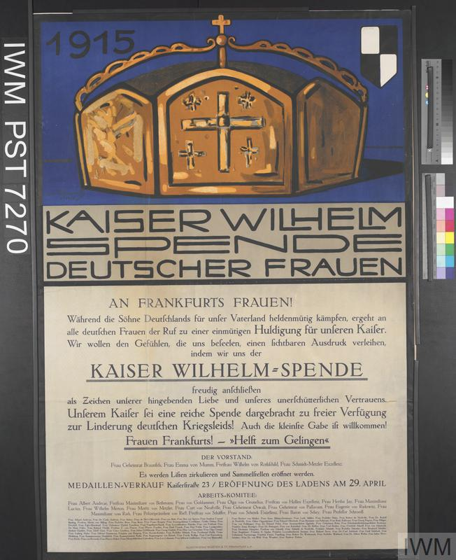 Kaiser Wilhelm Spende - Deutscher Frauen [Kaiser Wilhelm Appeal to German Women]