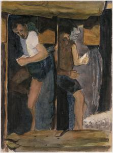 Two Men in Bunks Reading, 1943