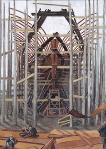 An Aircraft Carrier under Construction