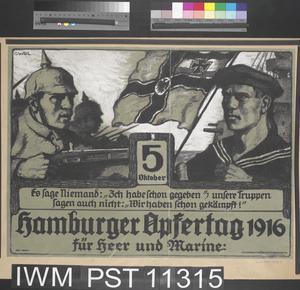 Hamburger Opfertag 1916 [Hamburg Flag Day 1916]