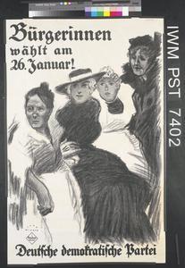 Bürgerinnen Wählt am 26 Januar! [Women Citizens, Vote on 26 January!]