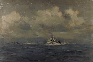 Dazzled Ships at Night
