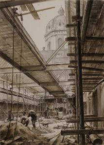 The Imperial War Museum, 1935 : Showing the main art gallery under construction
