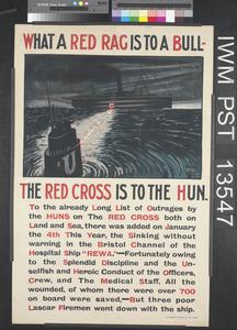 What a Red Rag is to a Bull - The Red Cross is to the Hun