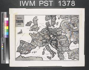 Satyrische Europa Karte [Satirical Map of Europe]