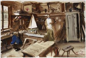 The Carpenter's Shop and Model Room : Marlag 'O'