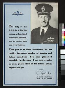 The Duty of the RAF [Portal]
