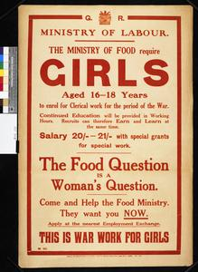 The Ministry of Food Require Girls (abbrv)