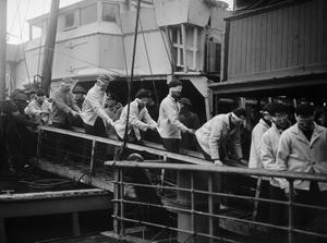 SCHARNHORST SURVIVORS AT SCAPA FLOW, 2 JANUARY 1944