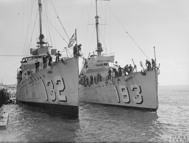 arrival of the first flotilla of american destroyers for