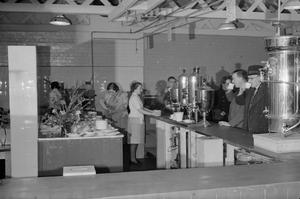 FACTORY BUFFET: WORKS CANTEEN AT A BRITISH AIRCRAFT FACTORY, 1942