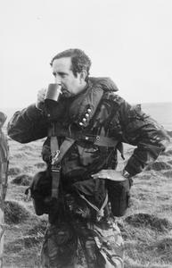 BRIGADIER TONY WILSON ON THE FALKLAND ISLANDS, JUNE 1982: PHOTOGRAPHS BY 5 INFANTRY BRIGADE PHOTOGRAPHER.