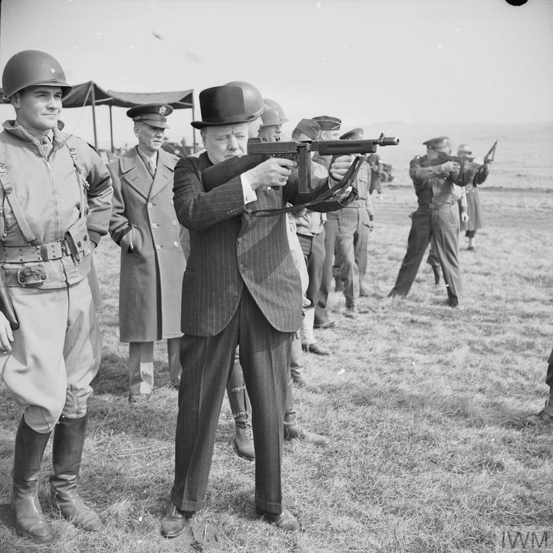 WINSTON CHURCHILL DURING THE SECOND WORLD WAR IN THE UNITED KINGDOM