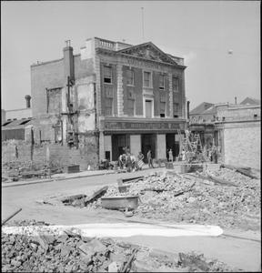 THE AFTERMATH OF A BAEDEKER RAID, CANTERBURY, KENT, ENGLAND, UK, 1942