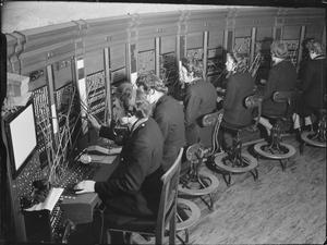 BATTLE HQ OF NFS: THE NATIONAL FIRE SERVICE LONDON REGION FIRE CONTROL ROOM, LONDON, ENGLAND, UK, 1944