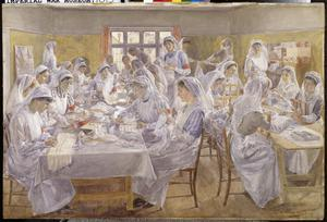 The Workroom of the Gerrard's Cross War Hospital Supply Depôt